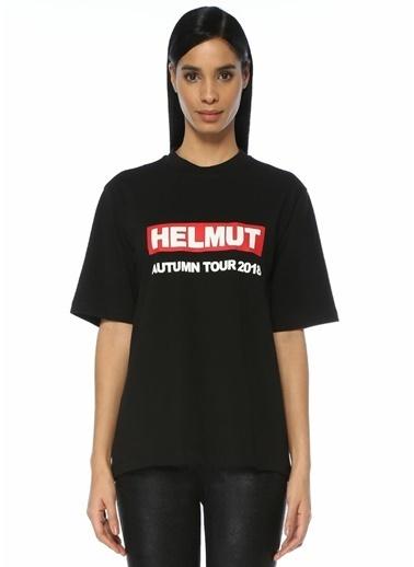 Helmut Lang Logo Baskılı Tişört Siyah